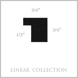 Linear picture frame image with measurements