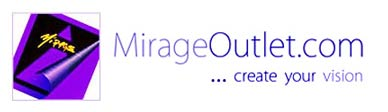Mirage Factory Outlet logo for custom made to order art products