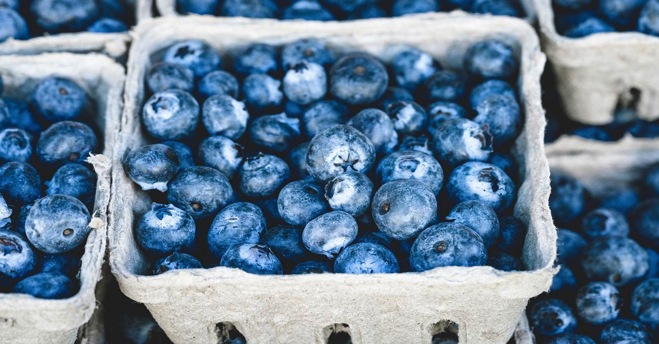 Yummy Blueberries in a basket box