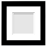 DESIGNER COLLECTION : ( Double Matted Frame )  Image-Sizes 5x5 up