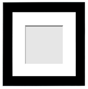 DESIGNER COLLECTION : ( Single Matted Frame )  Image-Sizes 2x2 up
