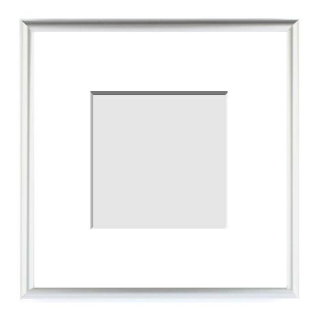 single matted picture frames 6x6 to 65x 95 metals frame sizes - White Square Frames