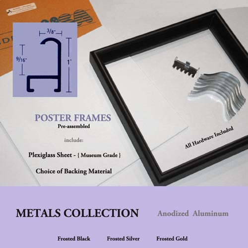 POSTER FRAMES 19 x 19 to 19.75 x 25 Non Standard FRAME SIZES Custom ...
