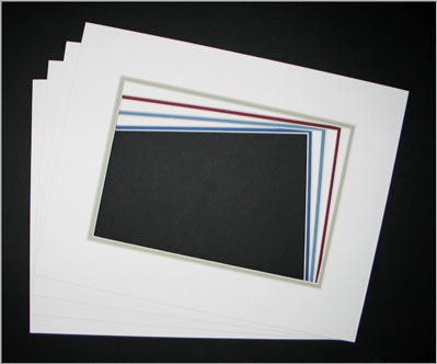 11 x 14 DOUBLE MAT for 7 x 10 Image - 3 Pack • Factory Closeout • OVERSTOCK ITEM