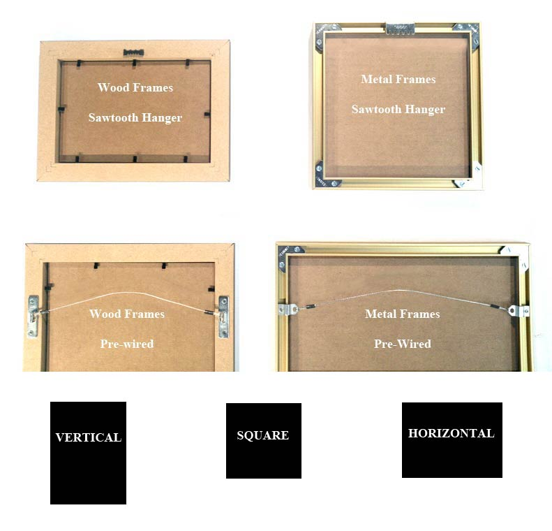 PICTURE FRAMES 3 x 3 to 3.75 x 10 Non Standard FRAME SIZES Custom ...