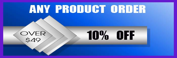 Promo Code for 10% off any custom made products