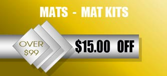 Loyalty pricing for custom bevel cut matting kits