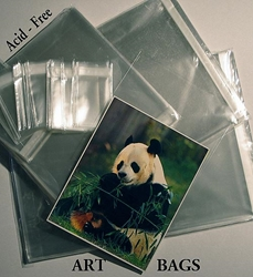 Art Display Clear Bags - ( Acid Free ) Clearbags, ART BAG,  PRINT SLEEVE, PHOTO BAGS, CELLO DOCUMENT STORAGE DISPLAY BAG, Resealable Plastic Envelope, Acid-Free