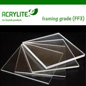 "ACRYLITE ® PLEXIGLASS - FF3 Clear Acrylic Sheets [ FRAMING GRADE ]<br><br>CUSTOM-SIZES : 3"" x 3"" to 16"" x 20"" Custom Cut to Size - Discount Packs Plexiglas, Plexiglass, Acrylic, Acrylite, Lucite, LuciteLux, Optix, Plexi Sheets Cut to size,Best Value"