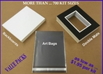 [ VALUE BULK-PACKS * ] - Art Show Mat Kits - <u>DOUBLE MATS</u><br><H3>( Select by ... <u>IMAGE SIZE</u> )</H3><br>CRESCENT ® Standard-Core / Ivory-White Bevel	 DOUBLE MATS SHOW KIT, CRESCENT Pre-cut, VALUE PRICED, Custom Mat Kits, Standard Sizes, Non-Standard Art Show Mats, Backs, Clear-Bags
