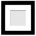 DESIGNER COLLECTION : ( Single Matted Frame )  Image-Sizes 5x5 up