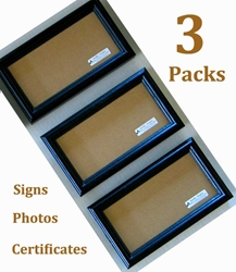 <u>3-PACKS</u> - Custom Made Sizes - 5 x 5 to 5.75 x 12<br><br>LICENCE / DOCUMENT / CERTIFICATE FRAMES 5.5x8.5, Certificate, Document, Picture, Frame