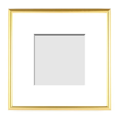 :: METALS COLLECTION :: ( Single Matted Frame )  Image-Sizes 3x3 up