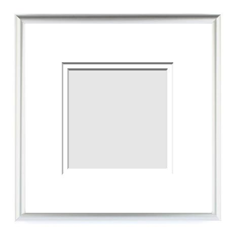 :: METALS COLLECTION :: ( Double Matted Frame )  Image-Sizes 4x4 up