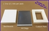 [ ECONOMY ] - Mat Kits - <u>SINGLE MATS</u><br><H3>( SELECT by ... <u>MAT SIZE</u> )</H3><br>CRESCENT ® Standard-Core / Ivory-White Bevel - MK-SM-MS